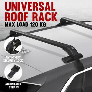 Universal Car Top Roof Rack Cross Bars Aluminum Alloy Aero Lockable 100CM AU