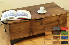 Rustic Wooden Chest,Trunk,Blanket Box,Vintage Coffee Table