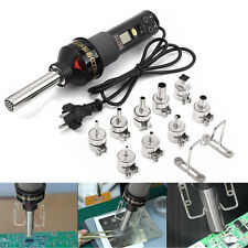 450W 450℃ LCD Heat Hot Air Desoldering Electronic Soldering Gun Station + Nozzle