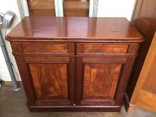RARE Antique SofaBed in Cabinet Fold Away Bed Flame Mahogany Compaign Cupboard
