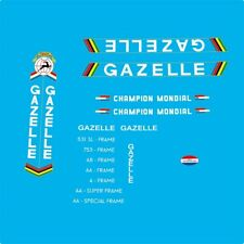 Gazelle Champion Mondial Bicycle Decals, Stickers n.25 White