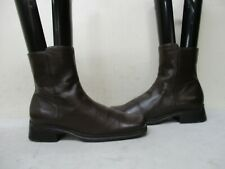 Nine West Renew Brown Leather Zip Ankle Boots Womens Size 6 M