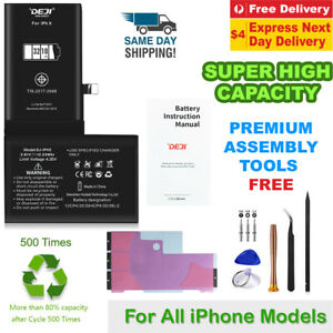 iPhone X XR XS Max 6 6s 8 7 Plus SE 5 Battery Replacement Kit High Capacity Deji