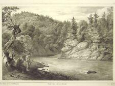1 Orig. Litho.v.Gille n.Fleischmann 1850 SAALE/ SAALGRUND