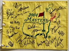Masters 29 champs signed flag arnold palmer jack nicklaus phil mickelson golf