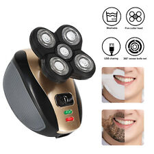 5 in 1 Mens Electric Razor USB Rechargeable Cordless Skull Head Clipper Trimmer