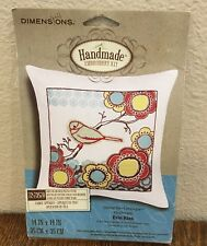Dimensions Embroidery Kit Bird On Branch Pillow Cover #72-73570 New