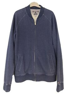 Tommy Hilfiger Blue Fleece Top. Full Zip. Sweatshirt. Size Large.