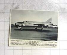 1954 The English Electric P.1 British Supersonic Fighter Aircraft