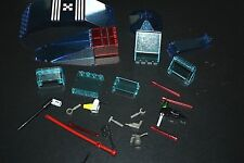 Lego Accessory Lot Tools Windows Glass Blue Red Sabers Building Bricks  -C