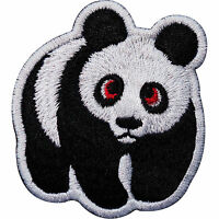 Panda Embroidered Iron / Sew On Patch Clothes Jacket T Shirt Jeans Bag WWF Badge