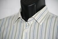Salvatore Ferragamo striped mens long sleeve cotton shirt Made in Italy L
