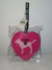 """Victorias Secret PINK Heart Dog """"Loofah"""" Shower Sponge with Strap New with tag"""