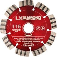 LXDIAMOND Diamant-Trennscheibe 115mm Leise Flüsterblatt Geräuscharm Beton PROFI