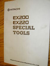 Hitachi EX200 220 SPECIAL SERVICE TOOLS DRAWING MANUAL EXCAVATOR HYD. FAB. GUIDE