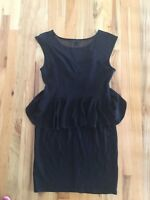 Forever 21 black peplum dress size 1x