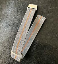 New No Pass, Parachute Elastic Watch Strap Band Belt in 20mm - Gray with Orange