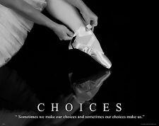 Ballet Dance Motivational Poster Art Print Shoes Flats Tutu Leotard Skirt MVP381