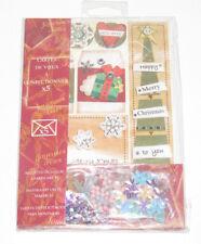 Coffret Set x5 Cartes de Voeux à Confectionner Scrapbooking Joyeux Noël NEUF