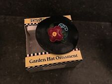 Mary Engelbreit ornament black Garden Hat red flower Ornament New in Box