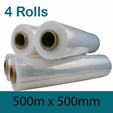 4 ROLLS Clear Pallet Film Wrap 500MM x 500M CLEAR PALLET WRAP Free Shipping