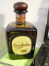 Don Julio Anejo 750ml Amber Tequila Glass Bottle EMPTY SQUARE
