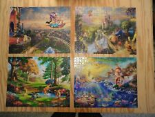 DISNEY THOMAS & KINKADE - 4 - 500 PC. JIGSAW PUZZLES .