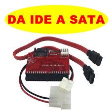 ADATTATORE CONVERTITORE IDE a SATA Adapter Converter SCHEDA CAVO