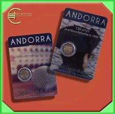 "2 x 2 Euro € Gedenkmünzen Coins 2016 Andorra, ""Radio + Reform"", BU, Coincard"