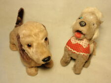 Lot 2 Vintage Mechanical Toy Puppy Dogs *As-Is* NOT WORKING Parts/Repair