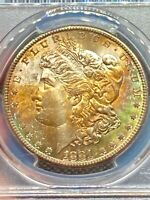1881-S PCGS MS-64 Morgan Silver Dollar Rainbow Toning - EVERY Color & Reverse PL