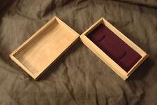Menuki/kozuka box, purple lining, without pillow, from Japan