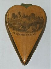 Mauchline ware sewing pin cushion Pevensey Castle / Eversfield Place Hastings
