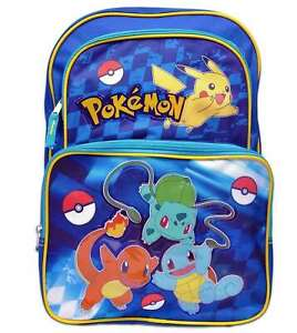 New Pokemon Cargo 16 School Backpack Go Pikachu & Friends Boys Nintendo