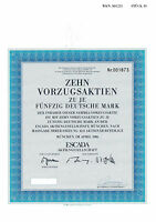 ESCADA AG München histor. DM Aktie 1986 Lifestyle Accessoires Textil Mode Bayern
