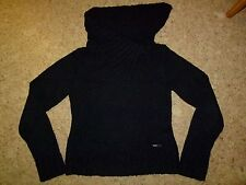 Flash Lights Kragen Pullover Damen schwarz Gr.S Filzoptik Jacke XS 32/34