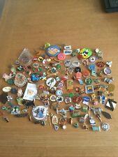 Pin badges approx 140 mixed job lot various themes,bundle, assorted