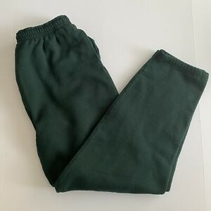 Vintage 90s Fruit Of The Loom Heavy Weight Joggers Sweatpants XL Green USA Made