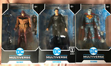 3 DC Multiverse McFarlane Figures Bizarro, JL Superman, White Knight Red Edition