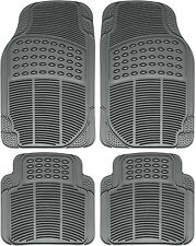 Floor Mats for SUVs Trucks Vans 4pc Set All Weather Rubber Semi Custom Fit Gray