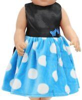 Puppen Kleidung Party Kleid blau Abendkleid für 40 bis 45 cm Puppen, Nr. 229c