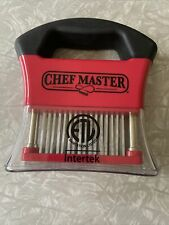 ChefMaster Meat Tenderizer Tool Stainless Steel Sharp Needle Blades Chef Master