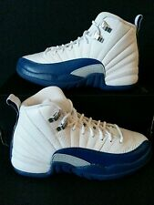 """Nike Air Jordan 12 Xii Gs Retro """"French Blue"""" 153265-113 Grade School Size 4.5Y"""