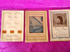 VILLA PIERA, FIESTA MAYOR, SANTO CRISTO, FERIAS FIESTAS, 1948-49-54, 4 PROGRAMAS