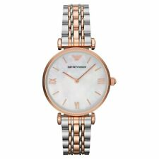 Emporio Armani AR1683 Classic Women's Watch Two-tone Rose Gold/Silver 32mm Stai