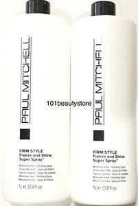Paul Mitchell Firm Style Freeze & Shine Super Spray 33.8 oz(PACK OF 2) 1Day Ship