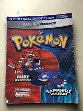 Pokemon Ruby & Sapphire Official Strategy Guide Nintendo Power Game Boy Advance