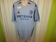 """FC Schalke 04 Adidas Ausweich Trikot 2005/06 """"VICTORIA versichert"""" Gr.XL TOP"""