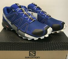 Salomon Mens SZ 8 Speedcross 4 Gtx Trail Training Running Blue Sensi Fit Shoes