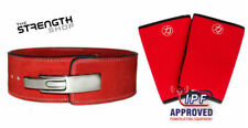 Strength Shop IPF 10MM RED POWERLIFTING LEVER BELT (MED) + INFERNO Knee Sleeves